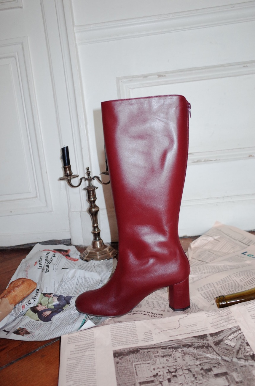 [앤유] LA SEINE long boots Burgundy