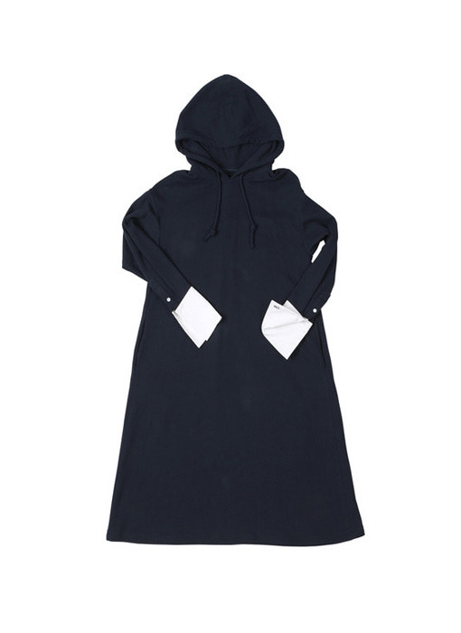 [앤유][박수진, 한예슬착용]BRISBANE hoodie dress (Navy & White)