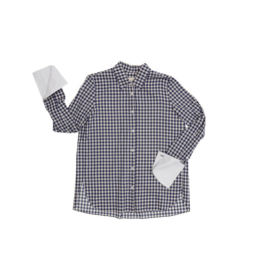 [AND YOU] LUXEMBOURG shirts (Blue gingham check & White)