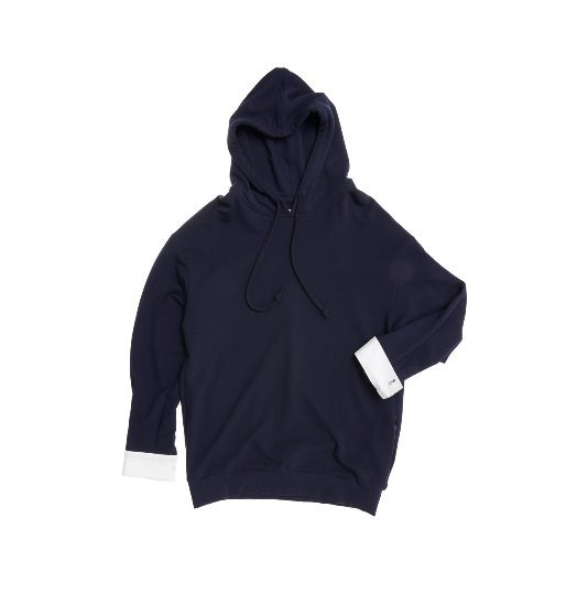 [앤유] MELBOURNE over-sized hoodie (Unisex) (Navy & White)