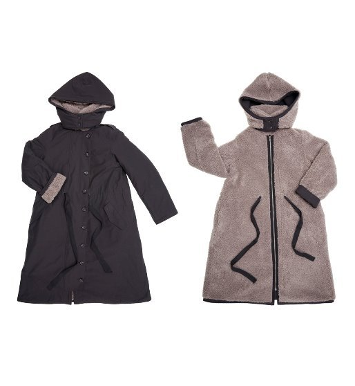 [앤유] SAPPORO reversible hoodie coat (Deep gray & Light gray)