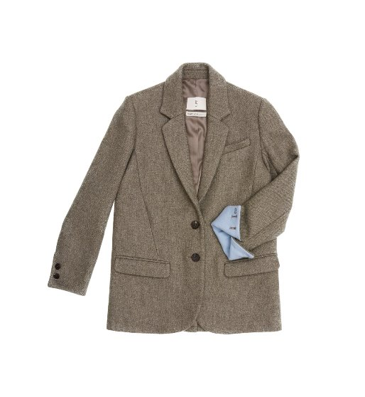 [앤유][2월19일 예약배송][장윤주 착용]PARIS two button blazer (Sand brown & Baby blue)
