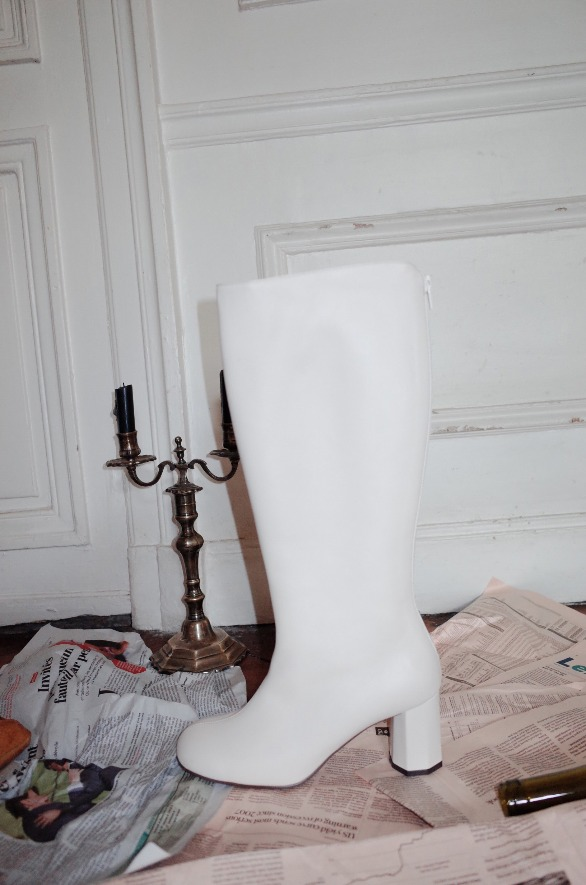 [앤유] LA SEINE long boots Cream
