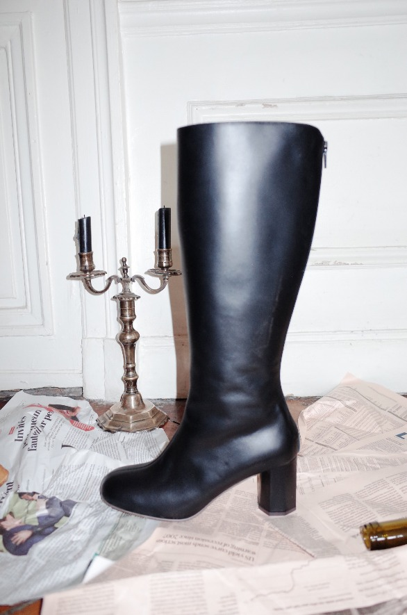 [앤유] LA SEINE long boots Black