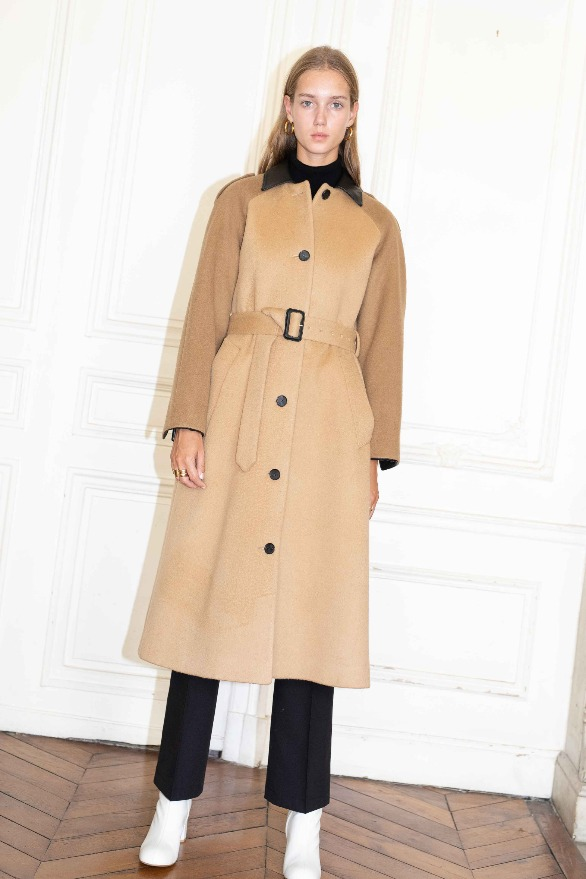 [앤유] VICTOR HUGO single button coat Camel,Brown