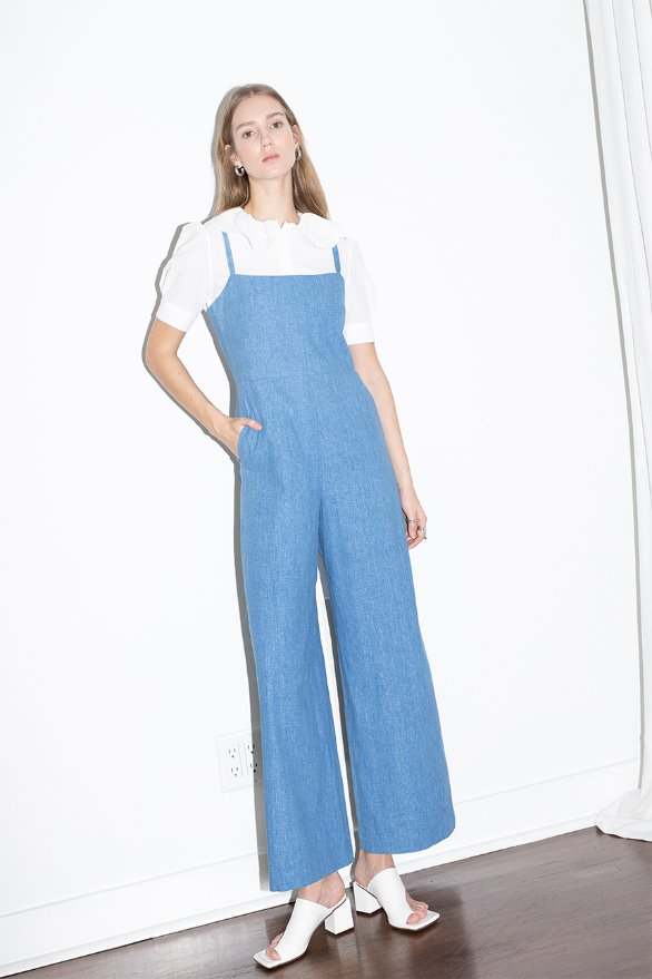 [김나영 노필터 TV]VENICE BEACH camisole jumpsuit (Blue jean)