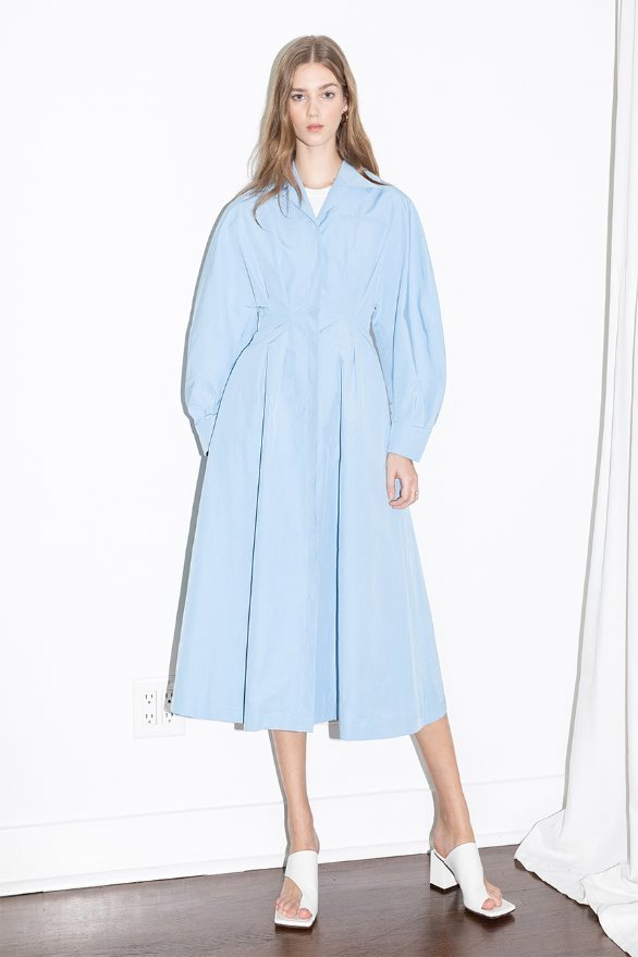 DOWNTOWN LA voluminous sleeve dress (LA Sky blue)