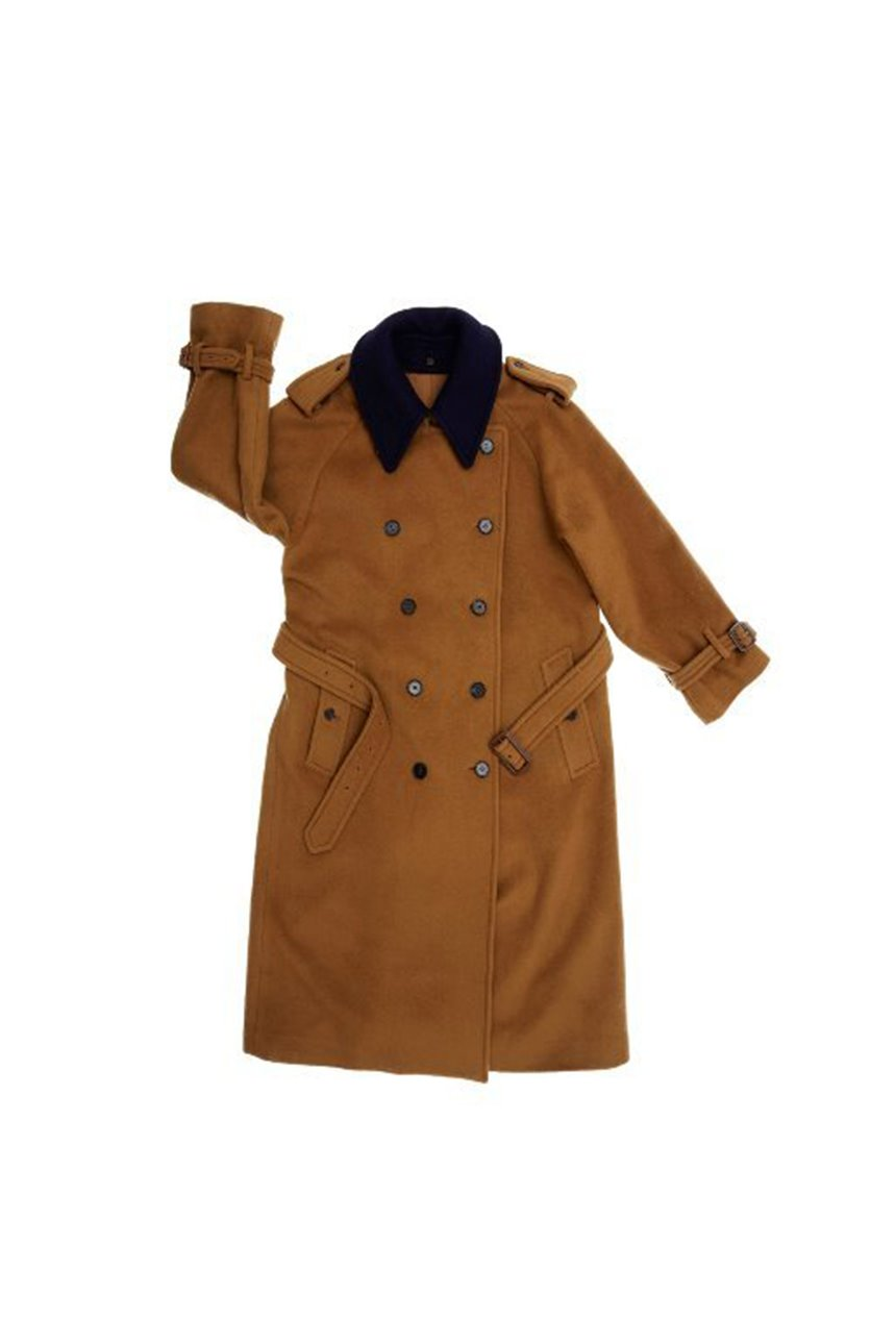 [한지민 착용]HAMBOURG trench wool coat (Camel brown & Navy)