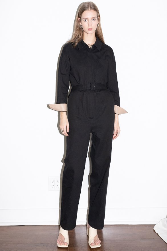 SAINT HONORE jumpsuit (Black cotton)