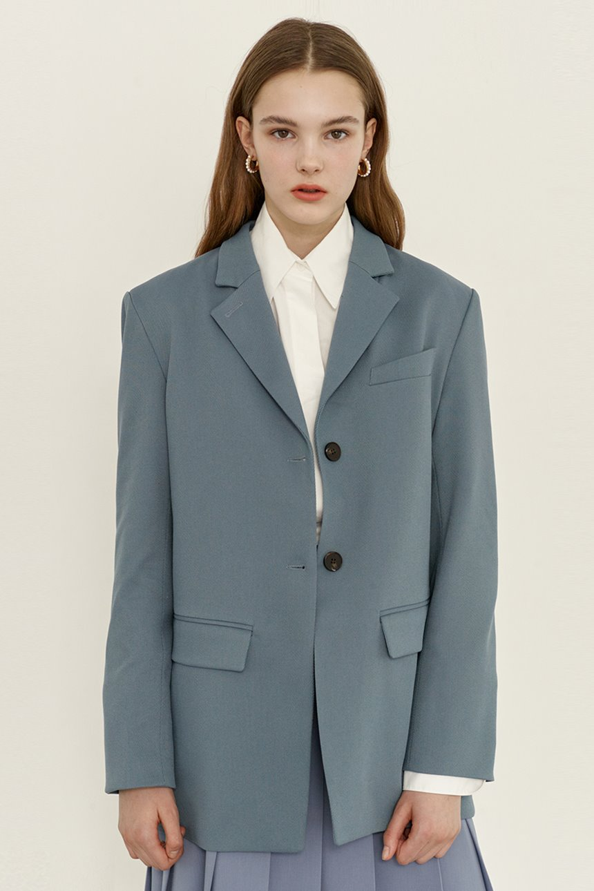 HALLIM Oversized fit blazer (Turkish blue)