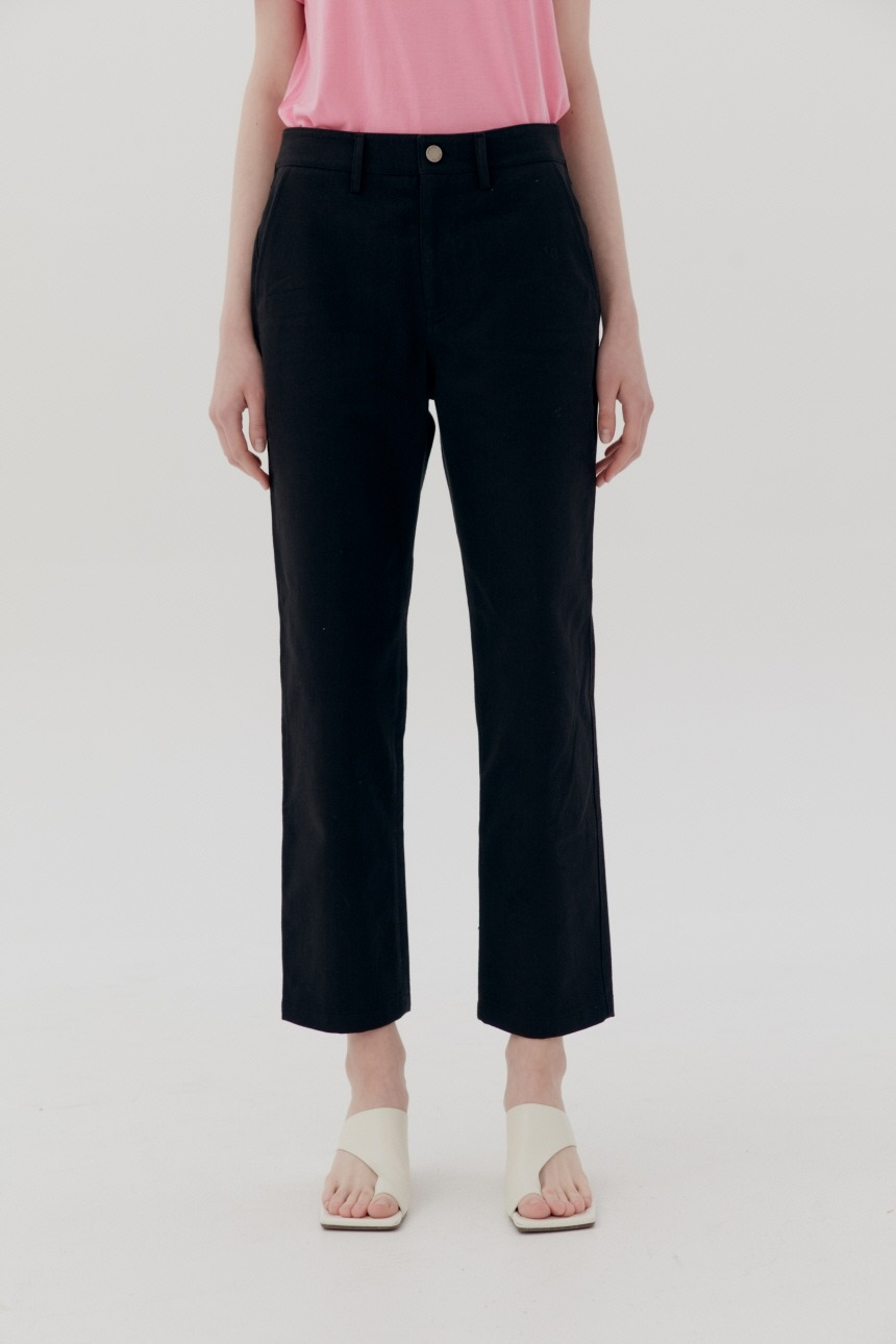 SANSEMI Straight fit trousers (Black)
