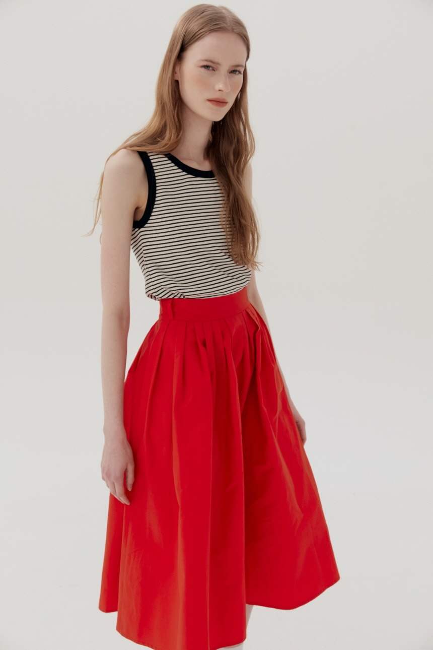 BOROMWAT Flared skirt (Red)