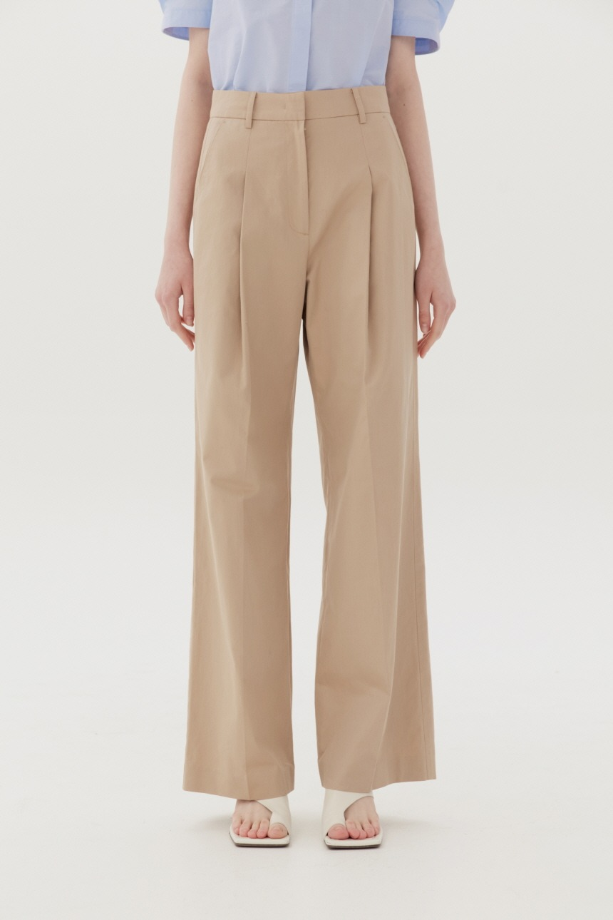 BORAMAE Wide leg trousers (Beige)