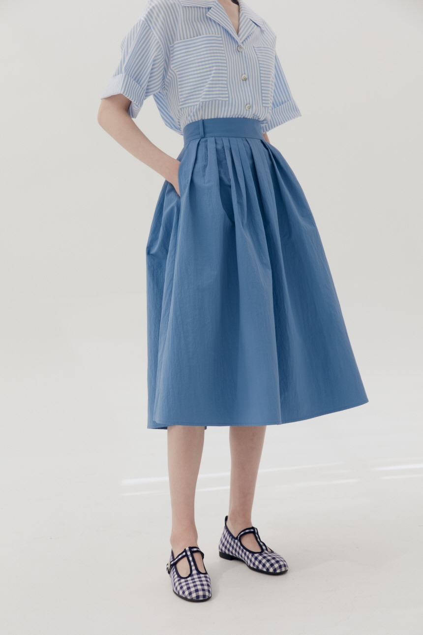 BOROMWAT Flared skirt (Deep blue)