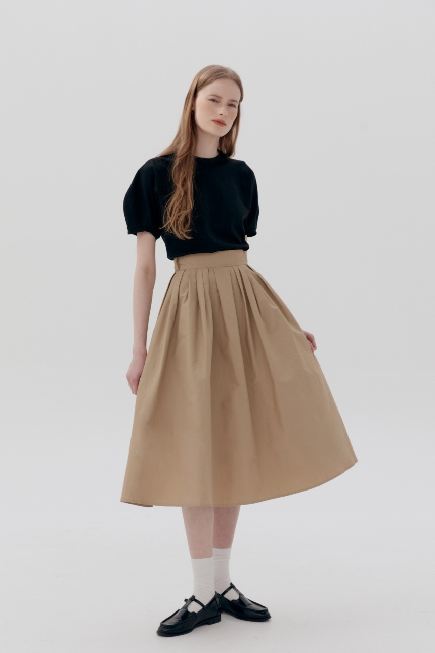 BOROMWAT Flared skirt (Beige)