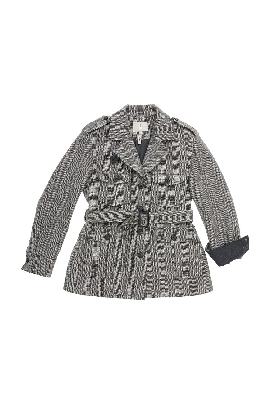 [앤유X노필터TV]ANGUK Safari jacket (Gray herringbone)